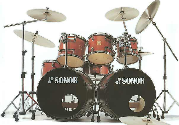 Sonor Sonic Plus Drum Kit Pearl Piccolo Snare Assorted